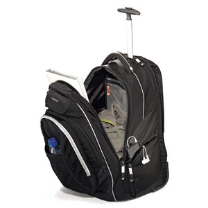 """Tectonic 21"""" Wheeled Backpack in the color Black."""