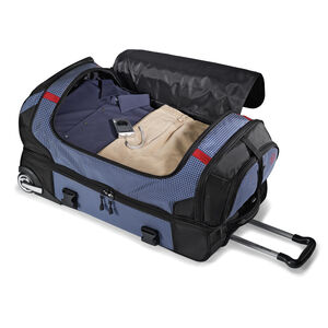 "Ripstop 26"" Rolling Duffel in the color Blue."