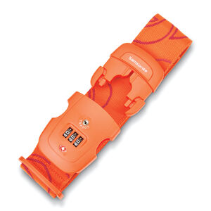 3 Dial Travel Sentry Combination Luggage Strap in the color Orange Tiger.