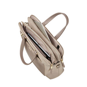"Zalia Organized Bailhandle 14.1"" in the color Beige."