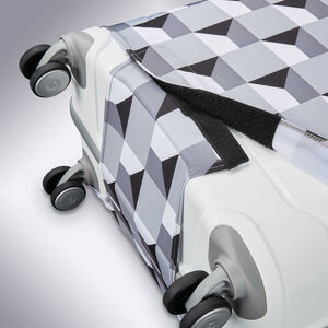 Printed Luggage Cover - M in the color Infinity Grey.