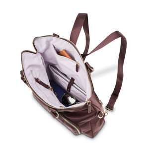 Encompass Womens Convertible Tote Backpack in the color Bordeaux.