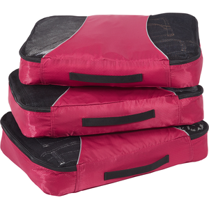 Classic Large 3Pc Packing Cubes in the color Raspberry.