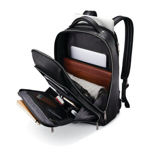 Classic Leather Backpack in the color Black.
