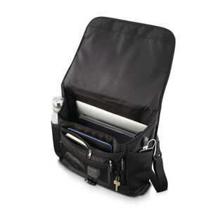 Quadrion Messenger Bag in the color Black.