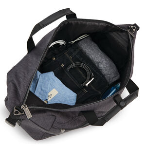 Modern Utility Weekender Duffle in the color Charcoal Heather/Charcoal.