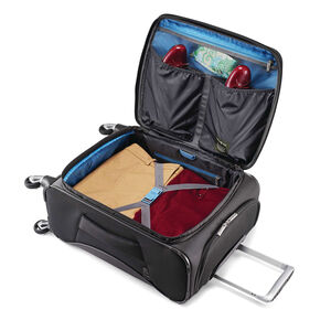 Eco-Nu Carry-On Expandable Spinner in the color Granite/Midnight Black.