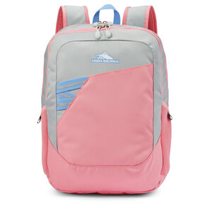 Outburst Backpack in the color Silver/Bubble Gum Pink.
