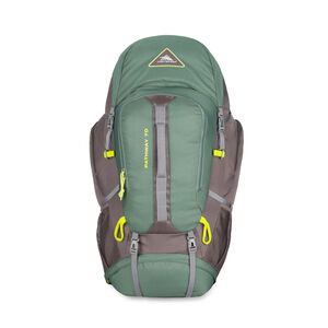 Pathway 70L Pack in the color Pine/Slate/Chartreuse.