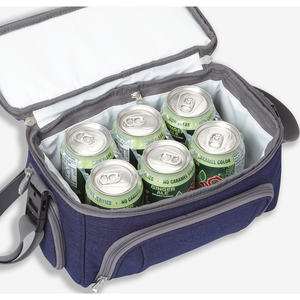 Crew Cooler Jr in the color Brushed Indigo.