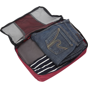 Classic Medium 3Pc Packing Cubes in the color Raspberry.