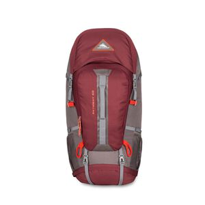 Pathway 60L Pack in the color Cranberry/Slate/Redrock.