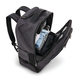 Modern Utility Convertible Wheeled Backpack in the color Charcoal Heather/Charcoal.