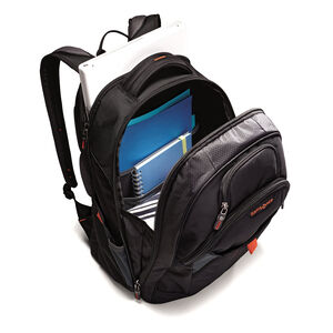 Tectonic 2 Large Backpack in the color Black/Orange.