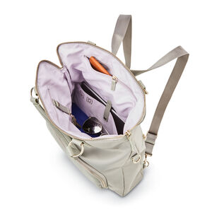 Encompass Womens Convertible Tote Backpack in the color Stone.