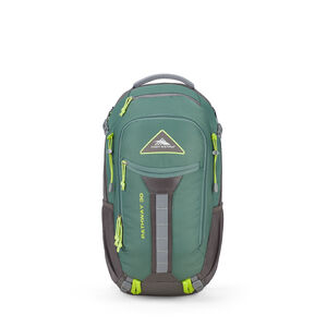 Pathway 30L Pack in the color Pine/Slate/Chartreuse.