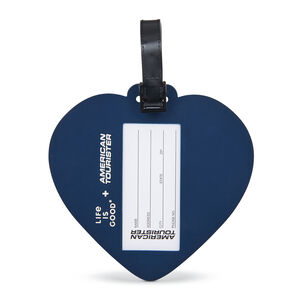 Life Is Good ID Tag in the color Hearts Blue.