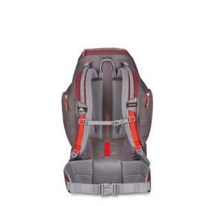 Pathway 50L Pack in the color Cranberry/Slate/Redrock.