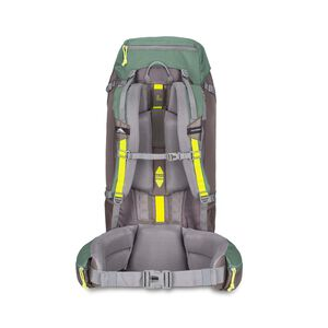 Pathway 60L Pack in the color Pine/Slate/Chartreuse.