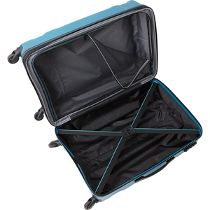 "Englewood 25"" Expandable Hardside Checked Spinner Luggage in the color Caribbean Blue."