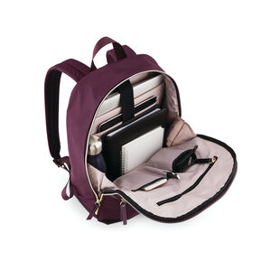 Mobile Solution Essential Backpack in the color Damson Purple.