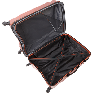 "Englewood 28"" Expandable Hardside Checked Spinner Luggage in the color Black."