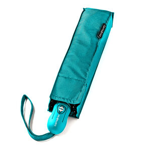 Compact Auto Open/Close Umbrella in the color Teal.
