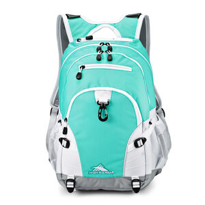 Loop Backpack in the color Aquamarine/Ash/White.