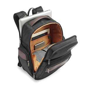 Kombi 4 Square Backpack in the color Black/Brown.