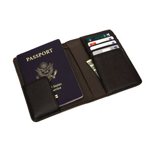 RFID Passport Wallet in the color Black.