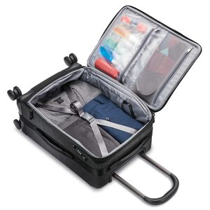 SXK Carry-On Expandable Spinner in the color Black/Silver.